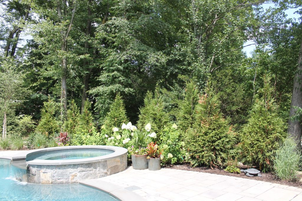 Stone Spa and Landscape Design in Wyckoff NY by Curti's Landscaping