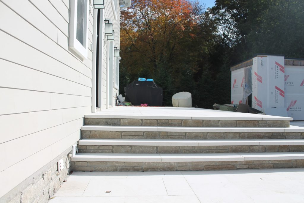 Stone Steps in Wesley Hills, NY by Curti's Landscaping
