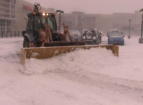 Snow Plowing at Palisades Center in West Nyack Rockland County NY