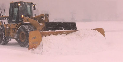 Snow Loader Service by Curti's Landscaping