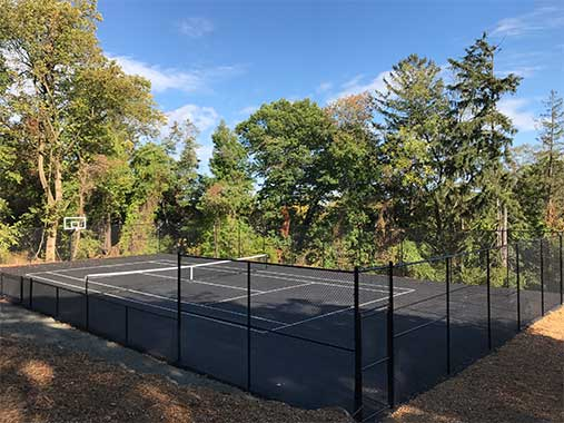 Multi-Sport Tennis and Basketball Court by Curti's Landscaping in Rockland County NY