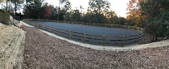 Riding Ring Installed by Curti's Landscaping in Rockland County NY