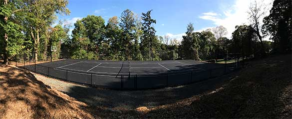 Sport Court by Curti's Landscaping in Rockland County